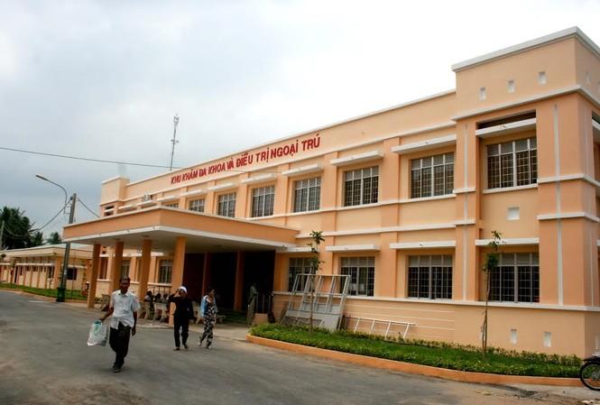 Bệnh viện ĐK khu vực Tiểu Cần, nơi BS. Diệp Yên tử vong trong khi trực đêm