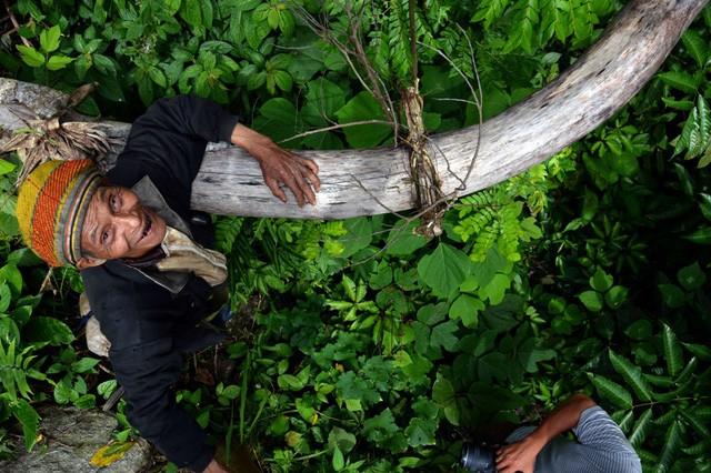 Đỉnh Cà Đam (huyện Trà Bồng, tỉnh Quảng Ngãi) quanh năm mây phủ. Nằm ở lừng chừng núi, căn chòi nhỏ là nơi ông Hồ Văn Châu (68 tuổi), ở thôn Tang, xã Trà Bùi, huyện Trà Bồng sinh sống suốt 20 năm qua.
