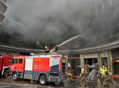 Hiện trường vụ cháy khách sạn. Ảnh: Reuters