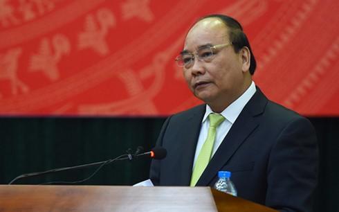 Thủ tướng Nguyễn Xuân Phúc phát biểu tại hội nghị.