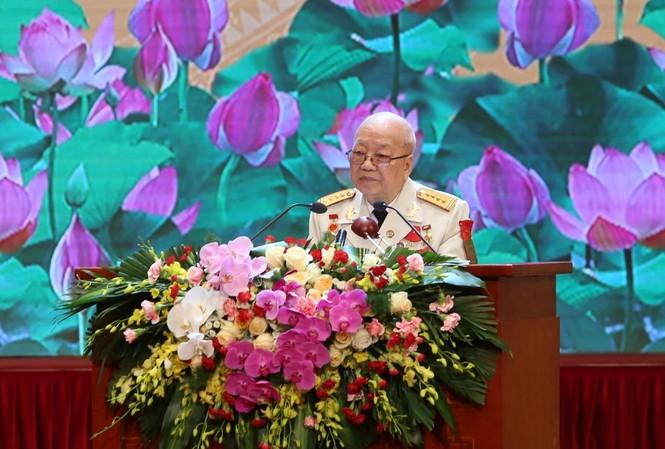 Đại tá Nguyễn Huy Du, ủy viên Ban liên lạc truyền thống quyết tử Liên khu I, Trung đoàn Thủ đô anh hùng.