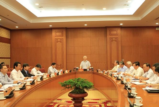 Tổng Bí thư Nguyễn Phú Trọng chủ trì cuộc họp của Thường trực Ban chỉ đạo T.Ư về PCTN.
