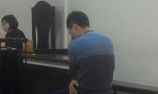 Anh Lê Văn Đông tại tòa phúc thẩm.