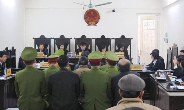 Phiên tòa xét xử Giang Kim Đạt.