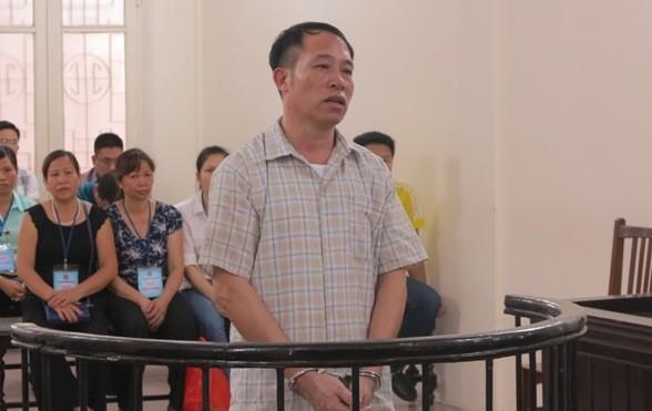 Đỗ Văn Phương tại tòa.