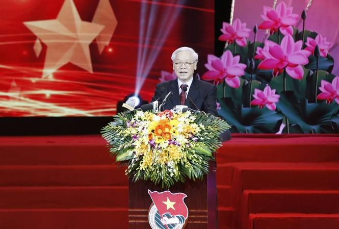 Tổng Bí thư Nguyễn Phú Trọng phát biểu tại Đại hội. Ảnh: Như Ý