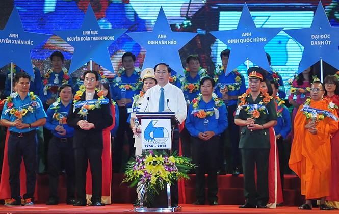 Chủ tịch nước Trần Đại Quang phát biểu tại Lễ kỷ niệm 60 năm Ngày truyền thống Hội LHTN Việt Nam