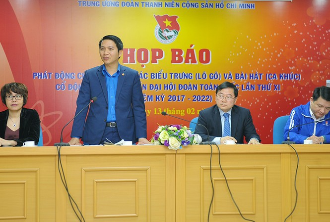 Họp báo phát động cuộc thi sáng tác biểu trưng và bài hát tuyên truyền Đại hội Đoàn XI