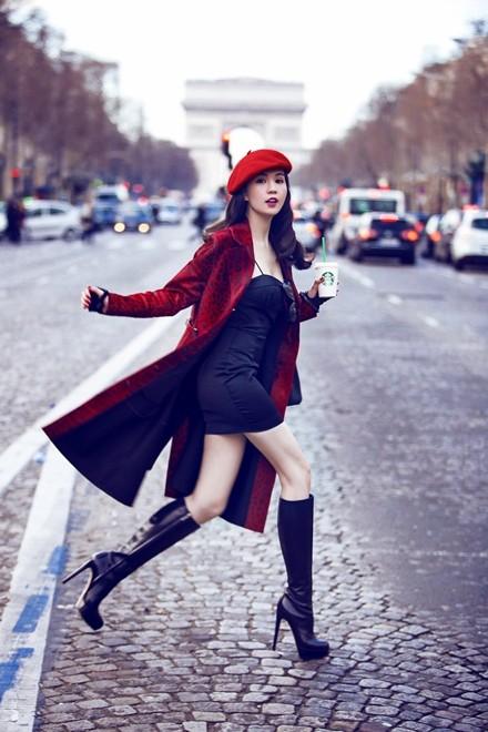 Ngọc Trinh diện áo 200 triệu đồng dạo chơi Paris - ảnh 3