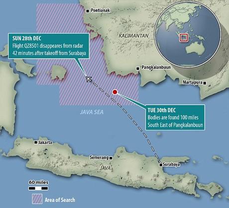 Tiết lộ sốc về vùng biển Java nơi QZ8501 rơi - ảnh 1