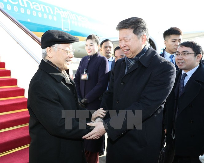 [ẢNH] Lễ đón Tổng Bí thư Nguyễn Phú Trọng ở sân bay Bắc Kinh - ảnh 2