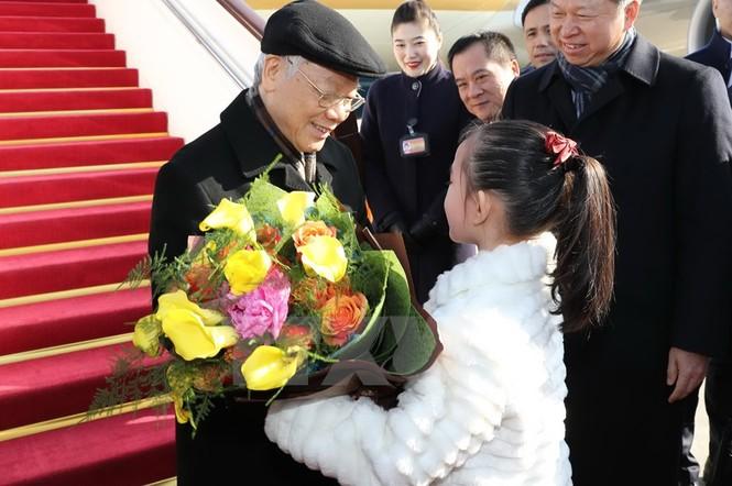 [ẢNH] Lễ đón Tổng Bí thư Nguyễn Phú Trọng ở sân bay Bắc Kinh - ảnh 3
