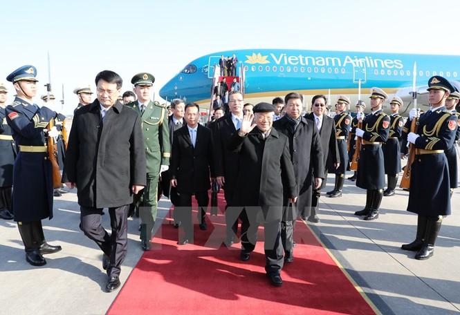[ẢNH] Lễ đón Tổng Bí thư Nguyễn Phú Trọng ở sân bay Bắc Kinh - ảnh 4