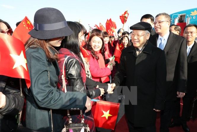 [ẢNH] Lễ đón Tổng Bí thư Nguyễn Phú Trọng ở sân bay Bắc Kinh - ảnh 6