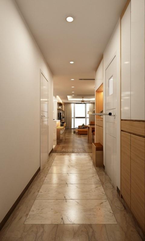 Căn hộ hơn 110m2 thiết kế tiền phòng 'gắn' tủ âm tường - ảnh 1