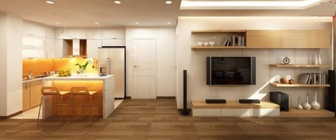 Căn hộ hơn 110m2 thiết kế tiền phòng 'gắn' tủ âm tường - ảnh 4