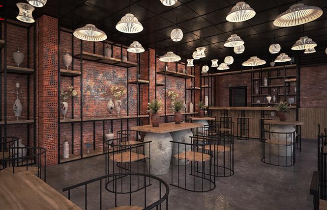 Độc đáo mô hình quán cà phê gốm kiêm... nhà trọ - ảnh 2