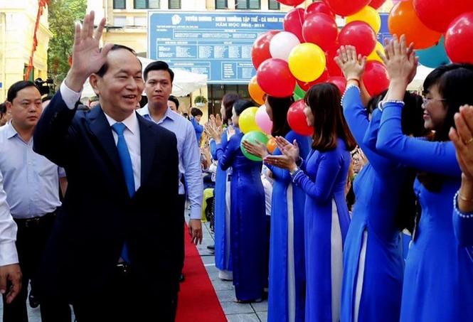 Chủ tịch nước Trần Đại Quang: Giáo dục là nền tảng phát triển bền vững - ảnh 1