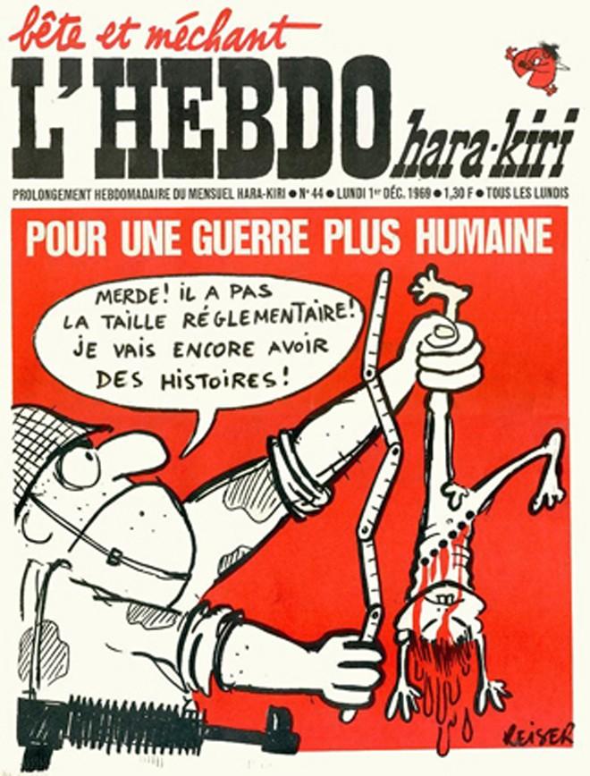 Báo Charlie Hebdo chống chiến tranh Việt Nam - ảnh 1