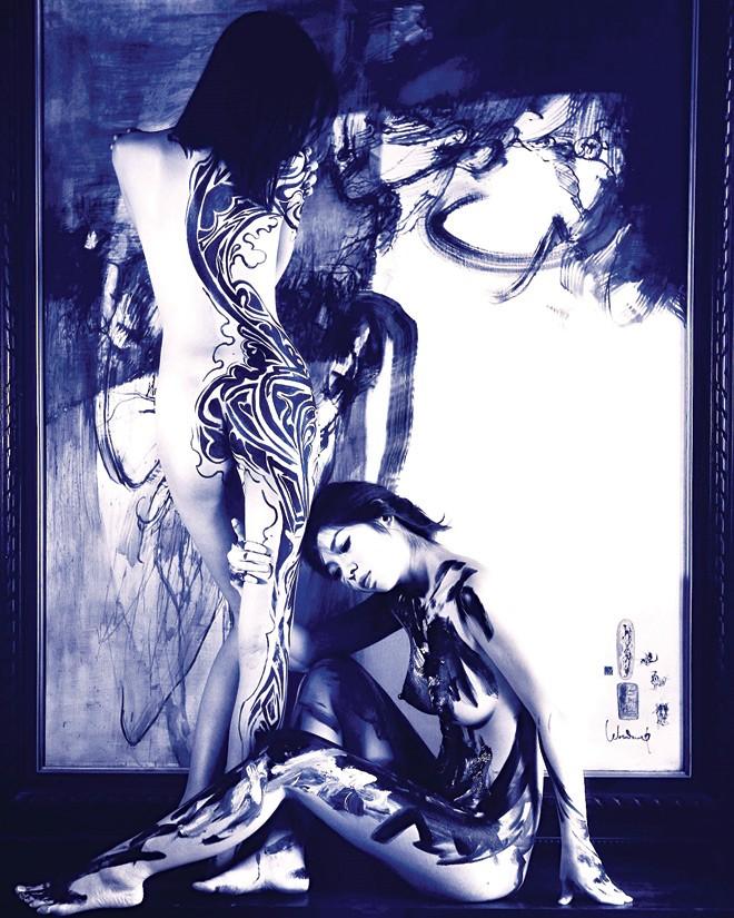 Vẽ trên cơ thể thiếu nữ - ảnh 1