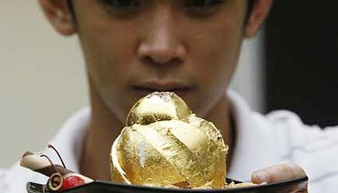 Những món ăn làm từ vàng nguyên chất giá ngàn đô - ảnh 2