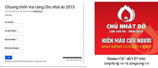 Thể lệ Chương trình Vui cùng Chủ Nhật Đỏ 2015 - ảnh 1