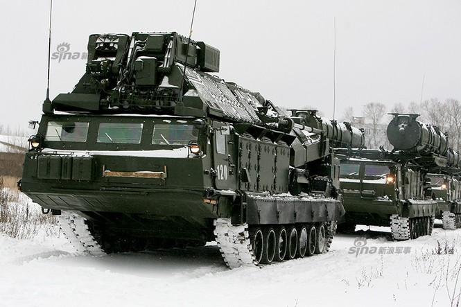 Nga di chuyển S-300VM giữa tuyết trời lạnh giá - ảnh 6