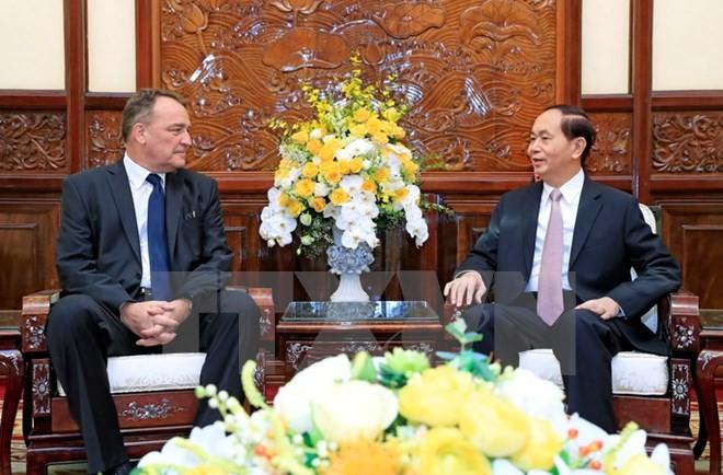 Chủ tịch nước Trần Đại Quang tiếp Đại sứ Áo và Slovakia - ảnh 1