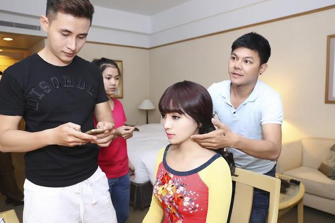 Hoa hậu Kỳ Duyên đẹp ngỡ ngàng với tóc mái ngố - ảnh 3