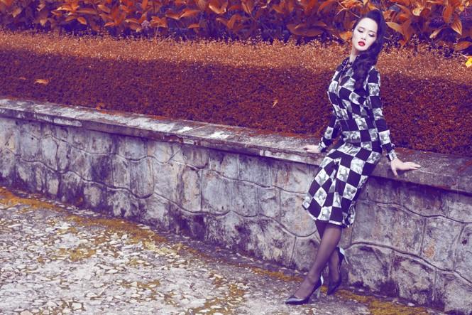 Vũ Ngọc Anh quyến rũ với trang phục mùa đông - ảnh 7