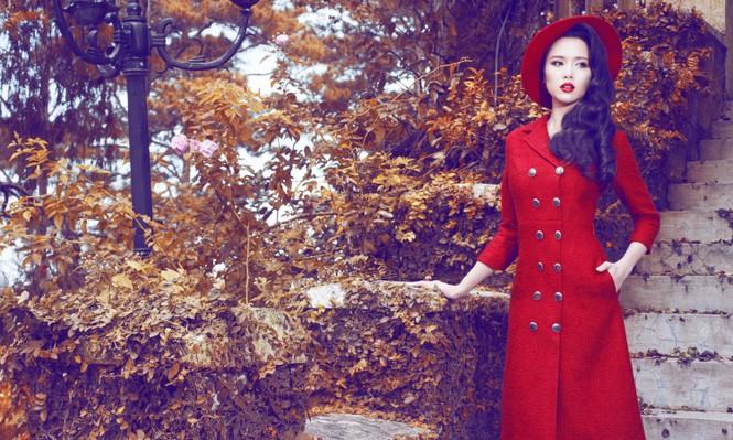 Vũ Ngọc Anh quyến rũ với trang phục mùa đông - ảnh 1