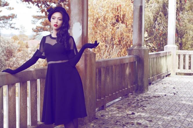 Vũ Ngọc Anh quyến rũ với trang phục mùa đông - ảnh 5