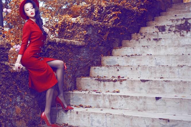 Vũ Ngọc Anh quyến rũ với trang phục mùa đông - ảnh 10