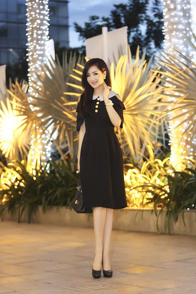 Hoa hậu Giáng My xinh đẹp, trẻ trung đi làm giám khảo - ảnh 3