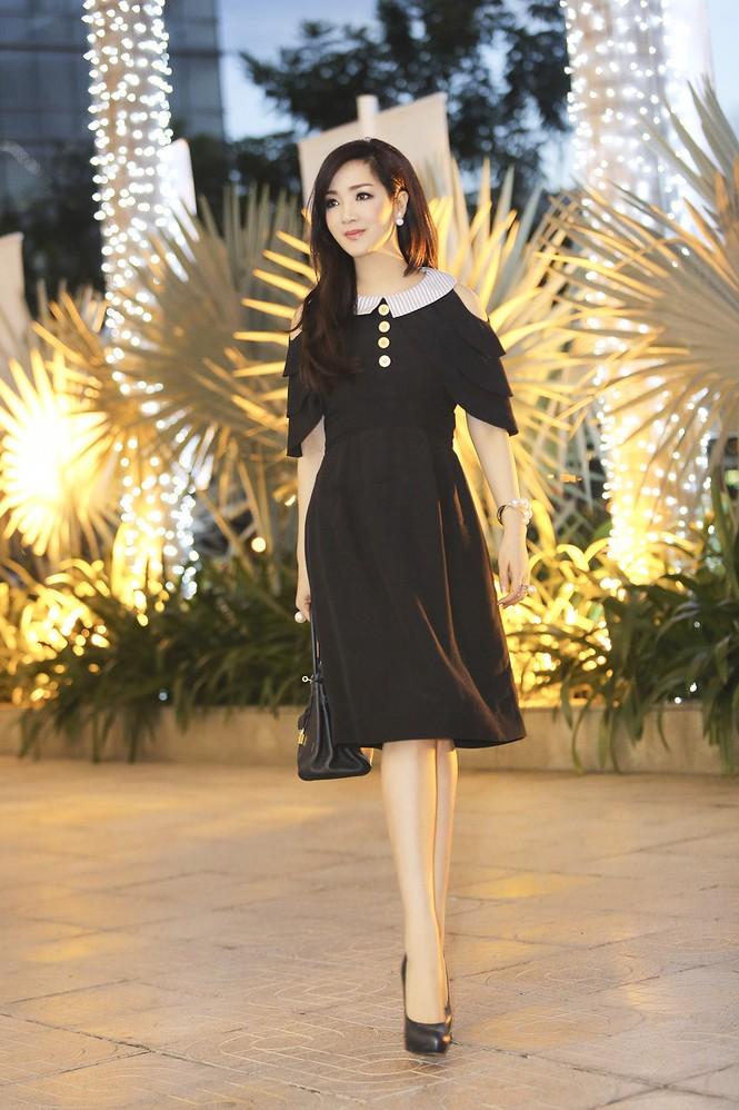 Hoa hậu Giáng My xinh đẹp, trẻ trung đi làm giám khảo - ảnh 2