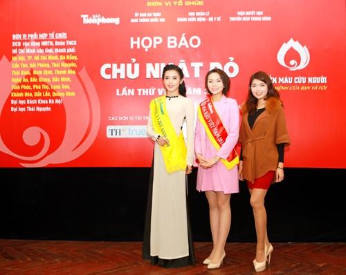 Các Hoa hậu, Á hậu hào hứng hiến máu cho ngày Chủ Nhật Đỏ - ảnh 1