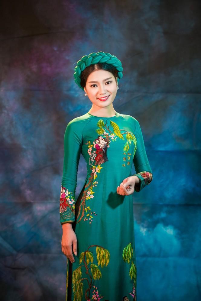 Người đẹp Thanh Tú, Kiều Anh duyên dáng với áo dài - ảnh 9