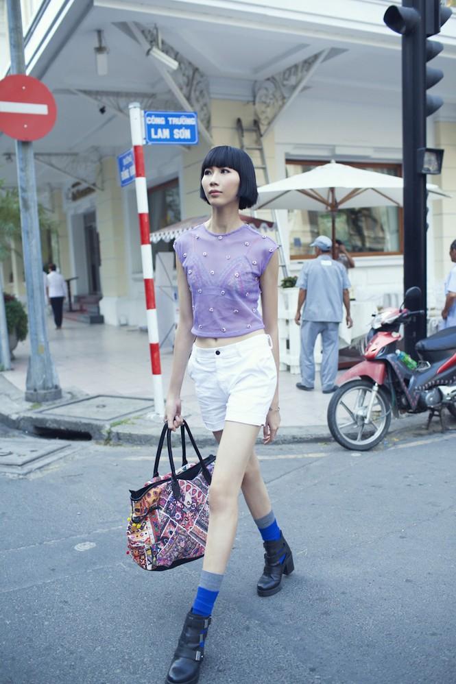 Cô nàng cao kều của Next Top Model cực 'chất' với street style - ảnh 10