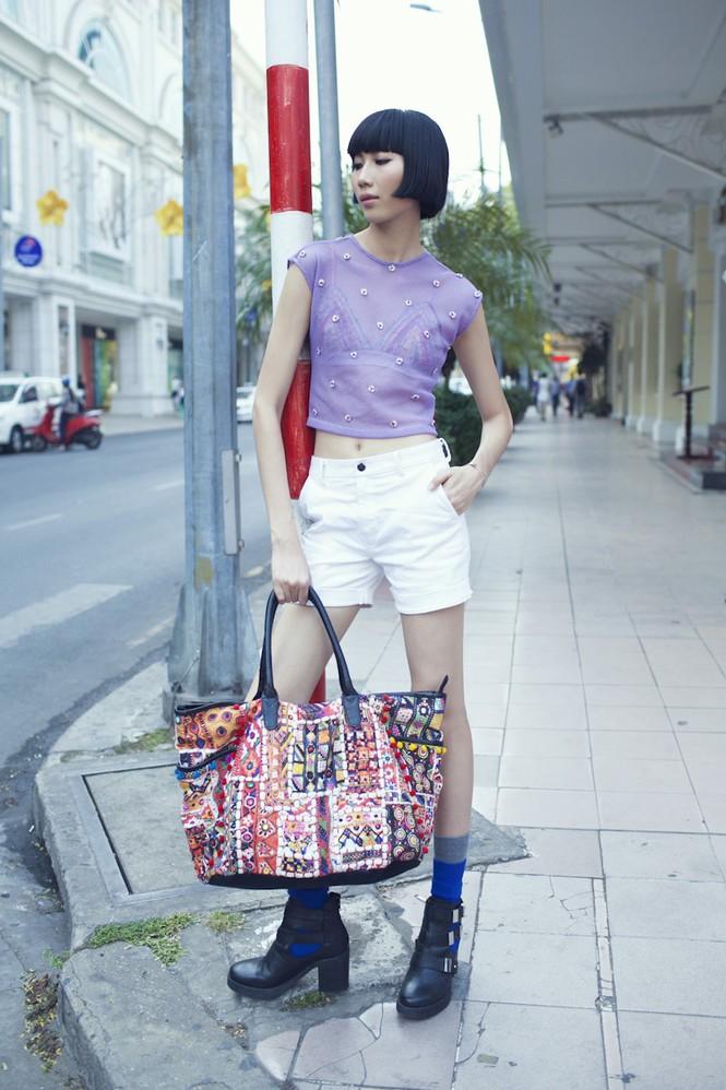 Cô nàng cao kều của Next Top Model cực 'chất' với street style - ảnh 7