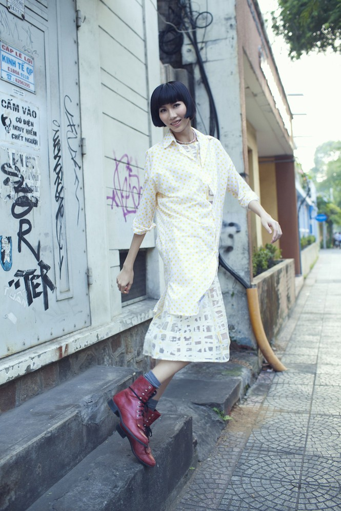 Cô nàng cao kều của Next Top Model cực 'chất' với street style - ảnh 6