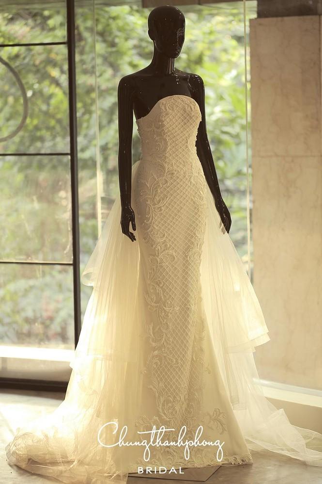 Ngắm 4 bộ váy lộng lẫy Trúc Diễm sẽ mặc trong hôn lễ - ảnh 8