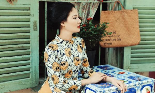 Trần Thị Quỳnh hoá thiếu nữ Sài Gòn xưa với áo dài - ảnh 6