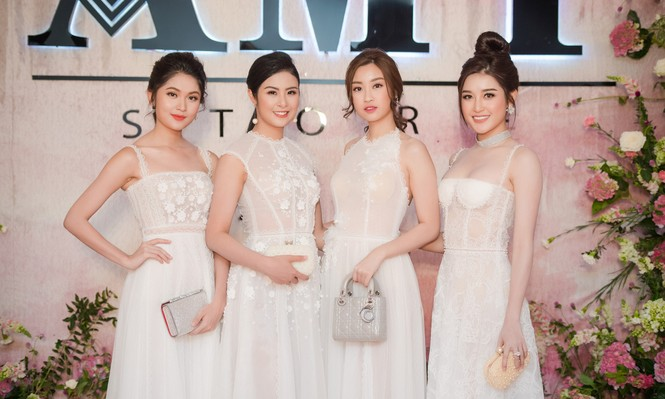 Dàn hoa hậu, á hậu 'đọ sắc' với váy ren trắng xuyên thấu - ảnh 10