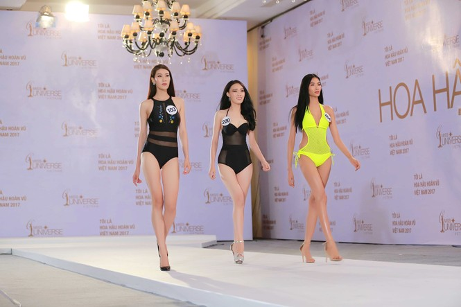 Hoàng Thuỳ, Mâu Thuỷ mặc bikini 'lấn át' dàn thí sinh tại sơ khảo HHHV - ảnh 1