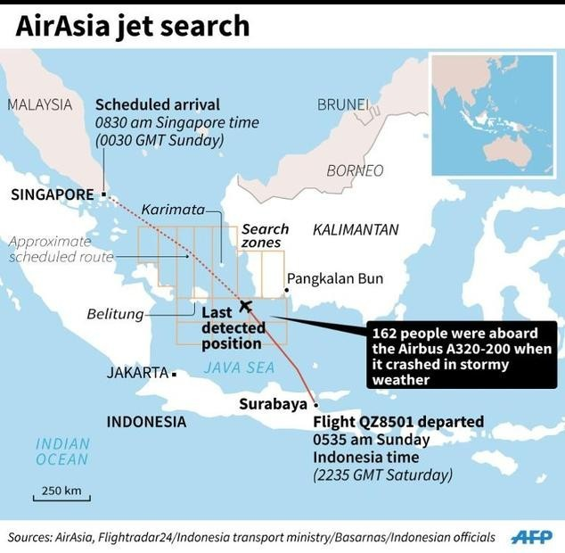 Toàn cảnh một tuần thảm kịch máy bay QZ8501 rơi - ảnh 1