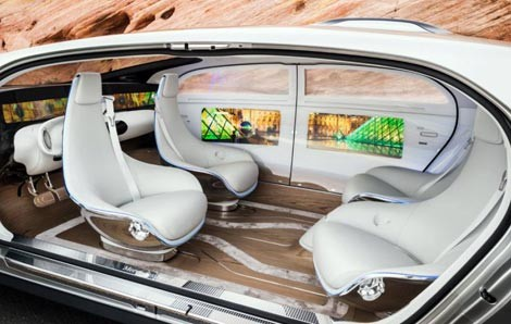 Mercedes lộ siêu xe F015 thiết kế giống phi thuyền - ảnh 1