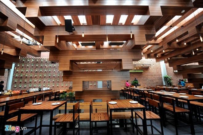 Nhà hàng có thiết kế giống cây cổ thụ ở Hà Nội - ảnh 3