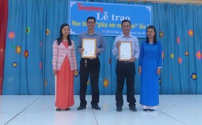 Báo Tiền Phong trao học bổng tại vùng ven TPHCM - ảnh 4