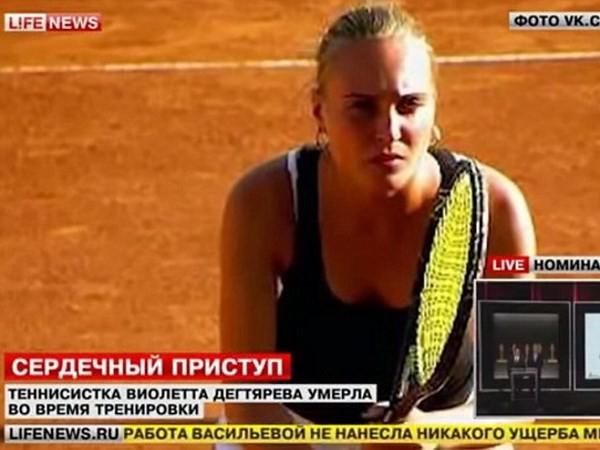 Người đẹp quần vợt Nga đột tử lúc đang luyện tập - ảnh 1