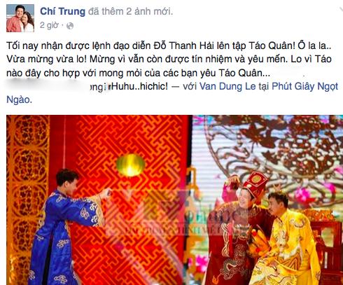 NSƯT Chí Trung được gọi đi tập Táo quân 2015 - ảnh 1